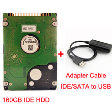 160 GB IDE Internal Hard Disk HDD 2.5 160GB for Laptop Notebook PC Computer Harddisk Hardisk with USB-C IDE/SATA to USB Adapter(China (Mainland))