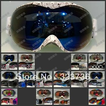 Winter anti-ultraviolet& fog all weather skiing glasses/snow goggle Glasses compatible with myopia spectacles Free shipping