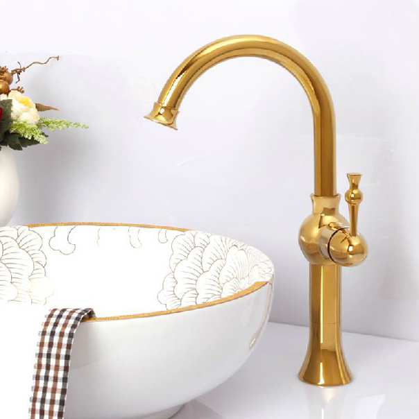 Free shipping Bathroom Faucet Gold single Handle sink Mixer Tap Bathroom.Single Hole Wash basin faucet.Polished Tap MT-3617A(China (Mainland))