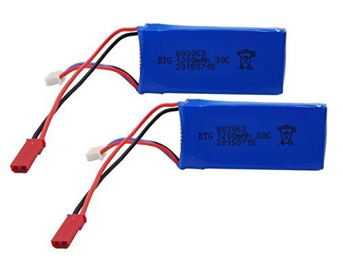 2 pcs Upgrade 7.4v 1200mAh Battery for MJX X101 and Wltoys V353 V353B V666 V262 A949 A959 A969 A979 K929 V912 V915 RC Helicopter