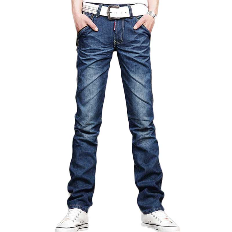 2015 New Famous Brand Mens Jeans Fashion Designer Ripped Jeans Male Straight Jean-in Jeans from ...