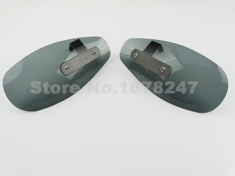 Motorcycle Smoke Hand guard Protector Cold Wind Flow Deflector Shield Windshield Mirror Mount Custom 10MM Thread Bolt New<br><br>Aliexpress