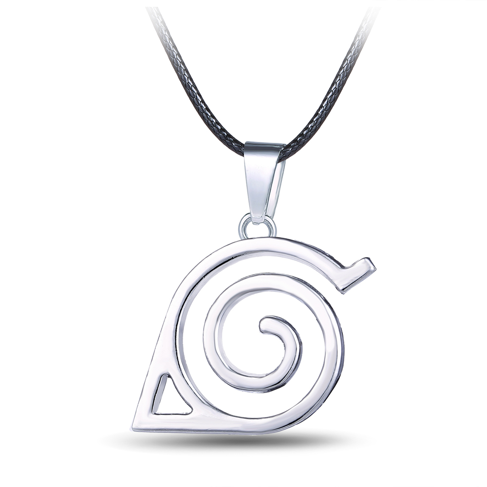 Movie jewelry hot Anime NARUTO series battle for leaf village Alloy necklace jewelry silver Cosplay pendant(China (Mainland))