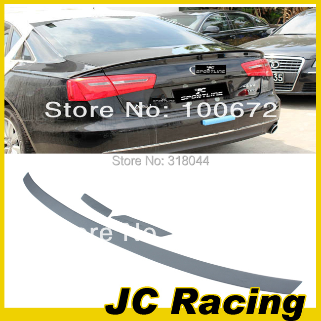 High Quality PU material ABT style A63PCS/SET rear trunk spoiler for AUDI A6 2013 trunk spoiler wing (Fit 2013 Facelift A6 C7 )(China (Mainland))