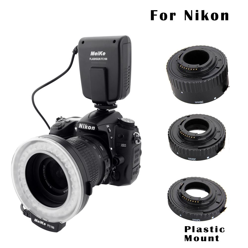 Macro Photography Set for Nikon - FC-100 Macro Ring Flash/Light &amp; Extension Tube for Nikon D7100 D7000 D5000 D5100 D5200 D5300 D<br><br>Aliexpress