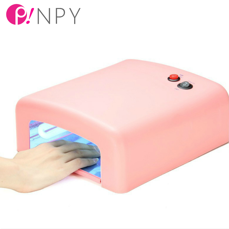 2016 Free Shipping New Professional 110v-220V 36W EU Plug Nail dryer Art Gel UV Curing Ultraviolet Lamp Light Dryer Dropshipping(China (Mainland))
