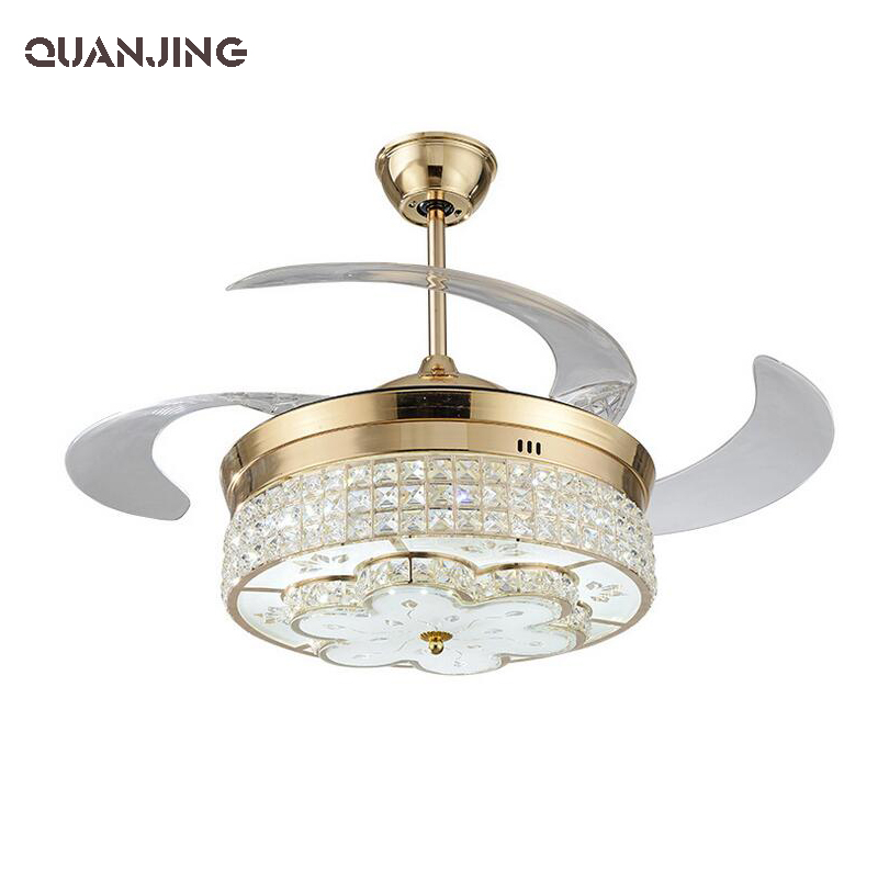 Modern L Ed Stealth Ceiling Fan Lights Simple Fashion Able Dining Room Bedroom Remote Control With Light Ventilador De Teto(China (Mainland))