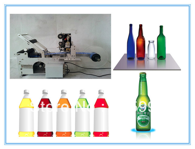 High quality automatic round bottle labeling machine , High accuracy and high speed, dispensing & labeling automatically