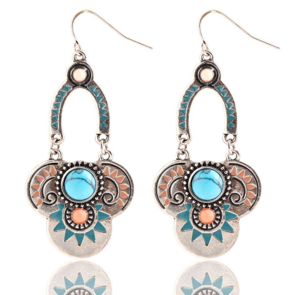Design Elegant Turquoise Earrings Earrings Elegant Turquoise