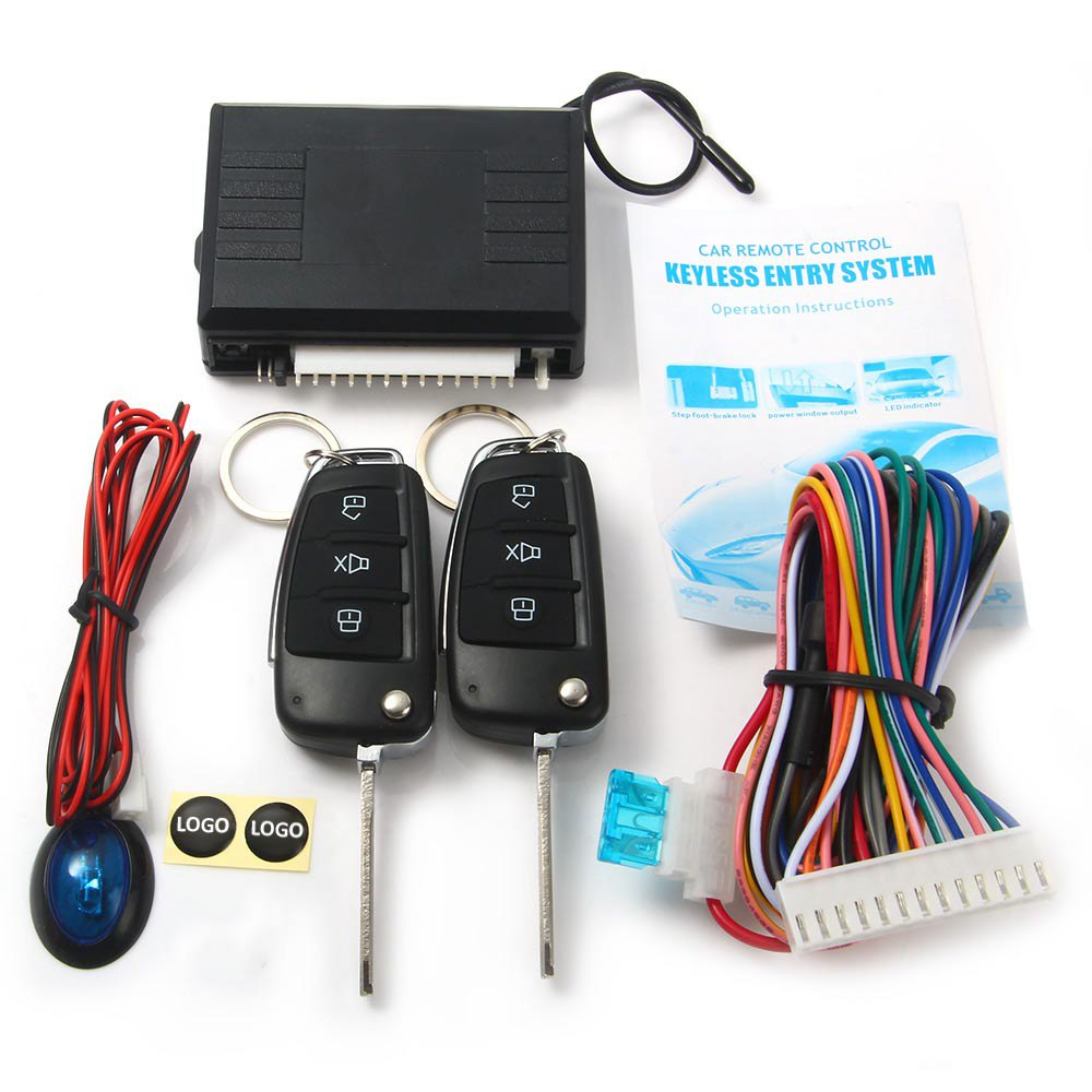 Quality Universal Keyless Entry System with 2 Flip Keys Alarm Remote Control Lock or Unlock Car Door Auto Windows Up for Toyota(China (Mainland))