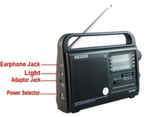 DEGEN DE392 FM TV MW SW Crank Dynamo Solar Emergency Radio World Receiver A0799A Alishow