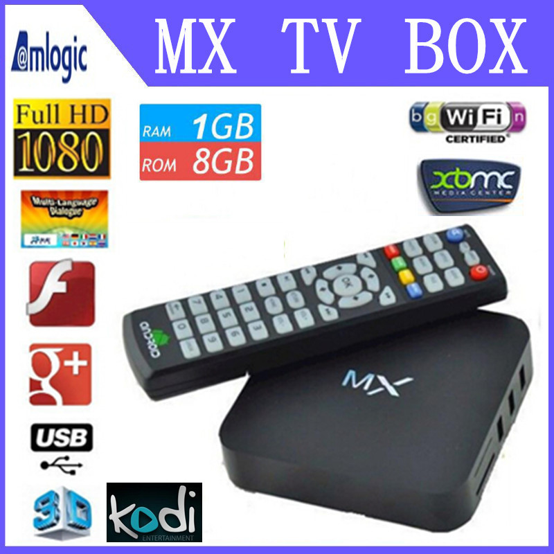 Henscoqi Original MX XBMC Android TV box Amlogic 8726 Dual Core 1GB RAM 8GB Matricom midnight Gbox MX2 G-box XBMC KODI(China (Mainland))