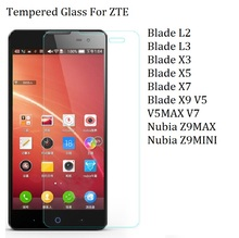 2016 Tempered Glass ZTE Blade L2 L3 X3 X5 X7 X9 Redbull V5 V5MAX V7 L3plus A452 Z9mini Screen Protector Case - Chinagirl Mobile Phone Parts and Accessories Store store