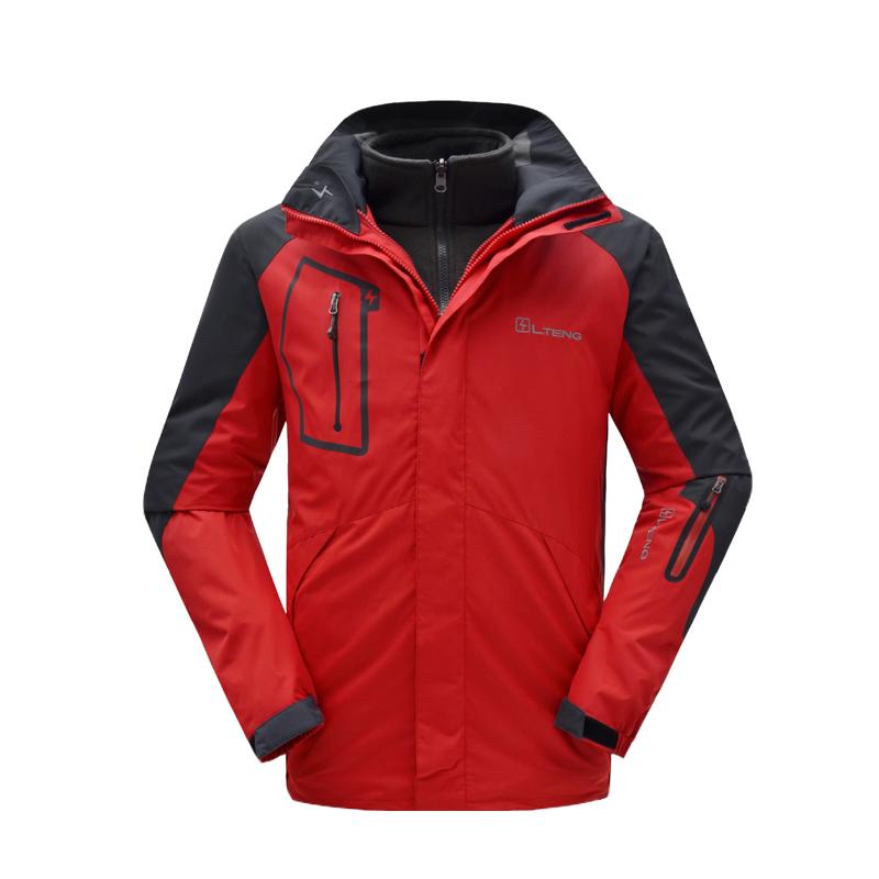 Dropshipping NEW Winter Hiking Jacket Men Outdoor Jacet 3 In 1 Warm Fishing Tourism Mountain Ski Jackets mens waterproof jacket(China (Mainland))