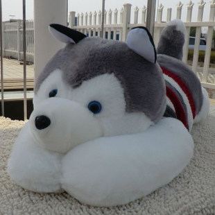 New arrival plush toy dog doll husky dog cloth doll Large 1 meters gift(China (Mainland))