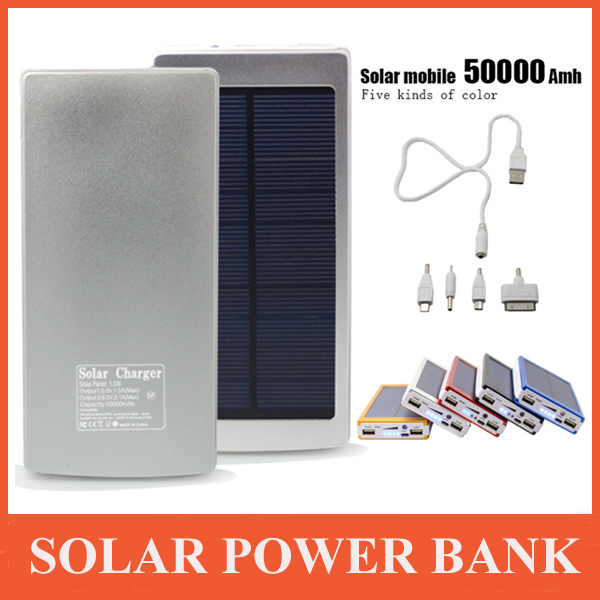 50000mah Solar Power Bank For All Cell Phone Tablet External Battery Pack Solar Hot(China (Mainland))