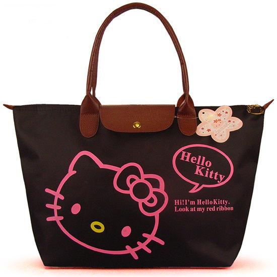 Waterproof Women Shopping Bags Hello Kitty Bag / Portable Folding Women Handbag Shopping Bag Large Size (51*30.5*15cm)(China (Mainland))