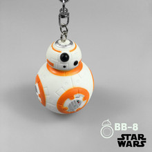 Star Wars 7 BB8 The Force Awakens Droid BB-8 Action Figure toys 7cm lovely Robot bb8 PVC keychain pendant gift