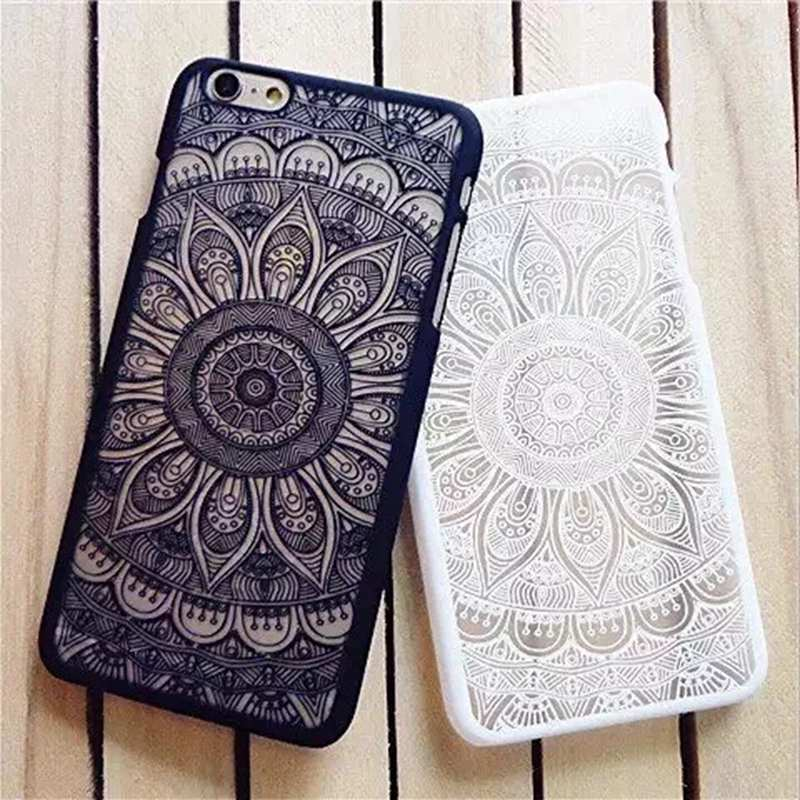 2017 Hot! Brand New Beautiful Floral Henna Paisley Mandala Palace Flower Fashion Phone Case Cover For iPhone 5 5S 6 6S 6Plus(China (Mainland))