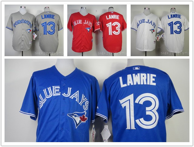 Toronto Blue Jays Brett Lawrie Jersey, Toronto Blue Jays 13 Brett Lawrie Baseball Jersey Canada Day 100% Stitched Free shipping(China (Mainland))