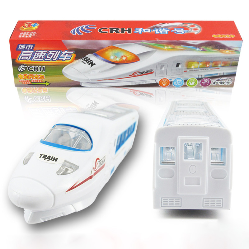 1 Pcs 33 CM Electric CRH High-speed Train Model LED Flashing Lights Sounds Music Changes Directions Children Kids Toys For Boys(China (Mainland))