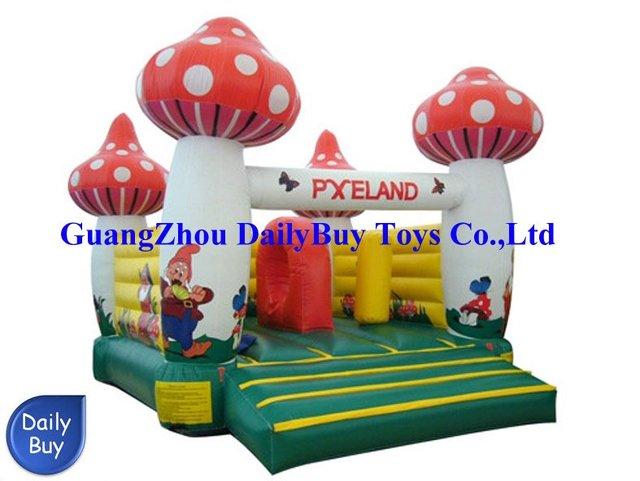 BO25 Crazy Price  New Mushroom Moonwalk inflatable bouncer playland 0.55mm PVC + Repait Kits + CE/UL Blower + DHL Free Shipping