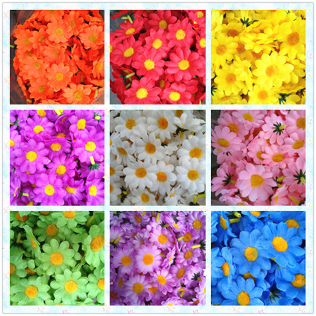 Sunflower Artificial Silk Flower Heads for wedding birthday party decor 100Pcs/set Hot Selling(China (Mainland))