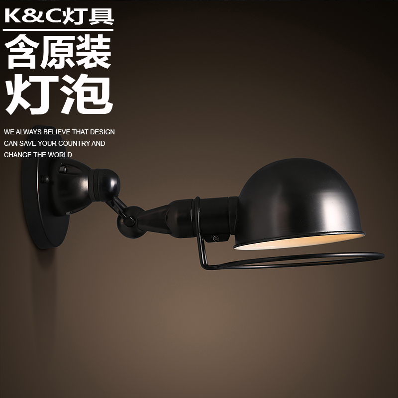 kc adjustable wall light fixtures , wrought iron wall lamp aisle balcony Nordic decorative wall sconce lights cafe bar(China (Mainland))