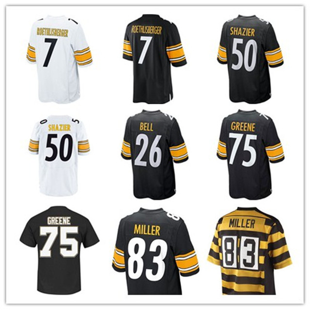 #7 Ben Roethlisberger    #50 Ryan Shazier  #26 Le'Veon Bell  #75  Joe Greene   #83 Heath Miller  Limited Jersey