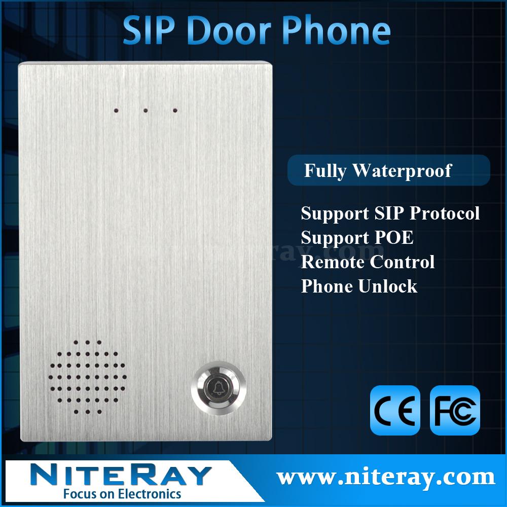 Digital keypad door lock access control audio door bell intercom system support PoE(China (Mainland))