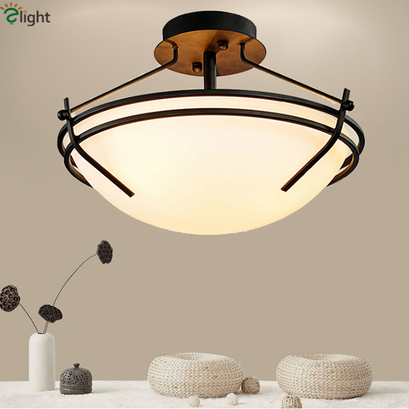 iron led ceiling lights dia35 45cm dining room bedroom lamp in ceiling