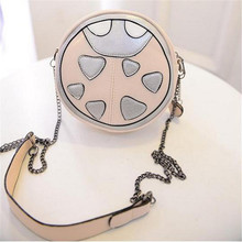 Novelty Ladybug shape mini bag 2015 summer women casual circular leather small messenger shoulder bag bolsa feminina pequena F5