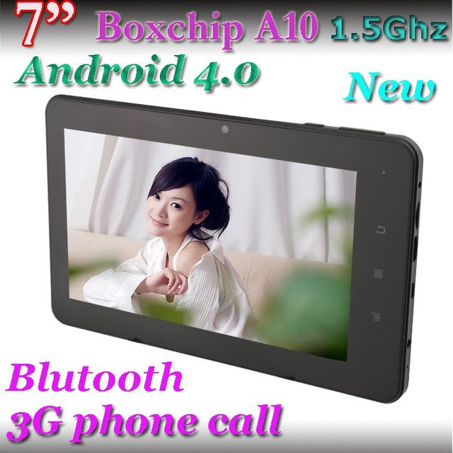 DHL free shipping 7 inch allwinner A10 android 4.0 bluetooth dual camera phone 3G tablet pc