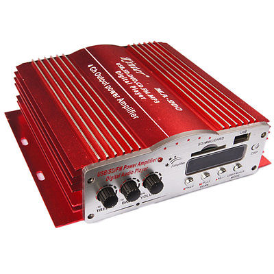 12V Kinter 4CH Car Audio Power Amplifier Sale Hot New Radio Fit Remote Stereo Control Hi-Fi Super Motorcycle MA 200(China (Mainland))