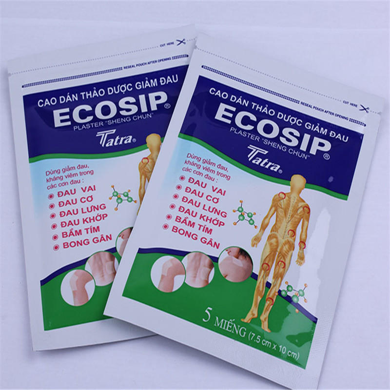100% Vietnam ECOSIP Treatment Osteoarthritis Bone Hyperplasia Omarthritis Rheumatalgia Spondylosis Paste Pain Relieving Patch(China (Mainland))