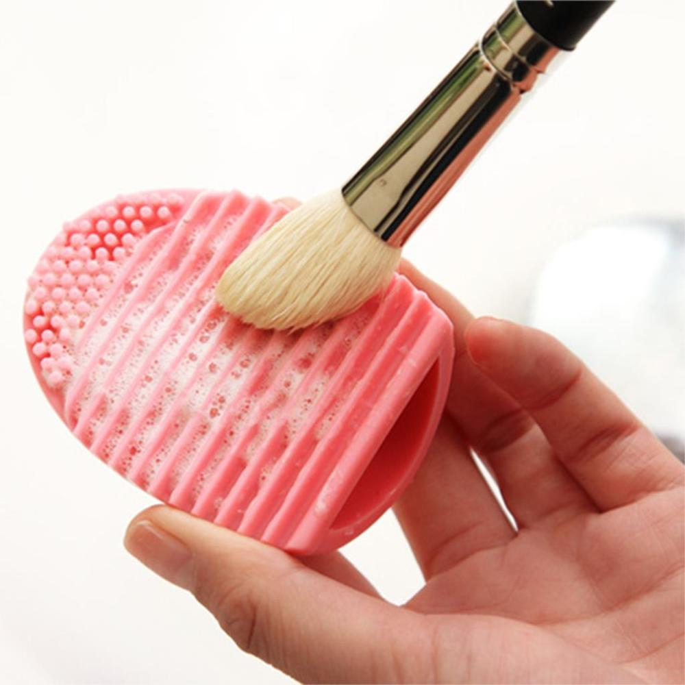 New Brand Silicone Brush Cleaning Egg Brush egg Cosmetic Brush Cleanser Makeup Brush Cleaner Clean tools High Quality(China (Mainland))