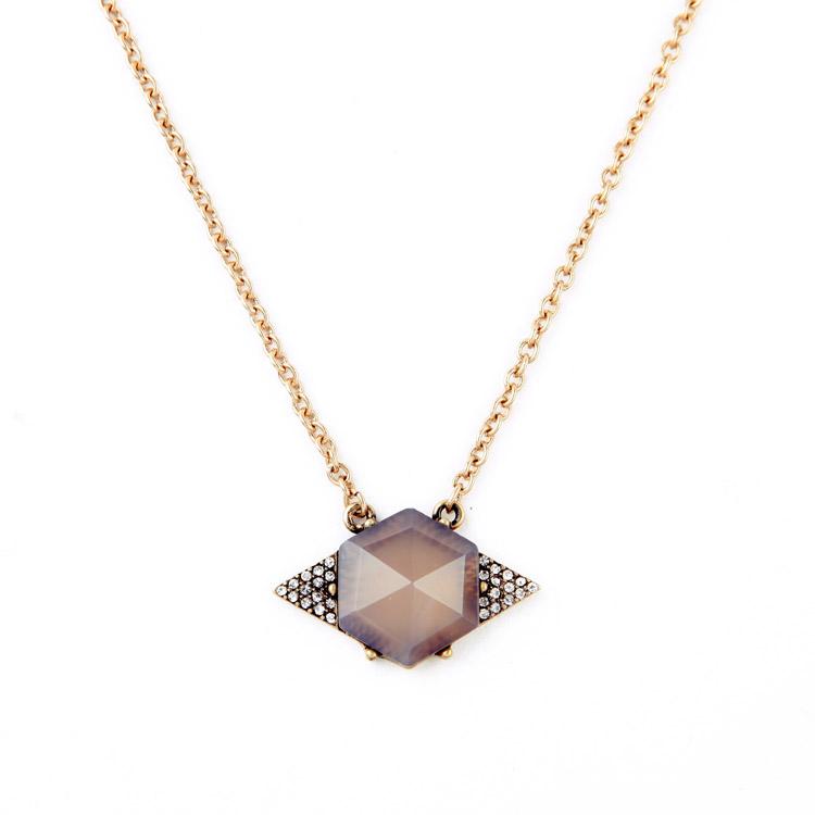 Fashion Designer Inspired Semi-precious Six Stone Pendant Necklace Female Personality Retro J.e.w.e.l and + Isabel Crew Stella(China (Mainland))