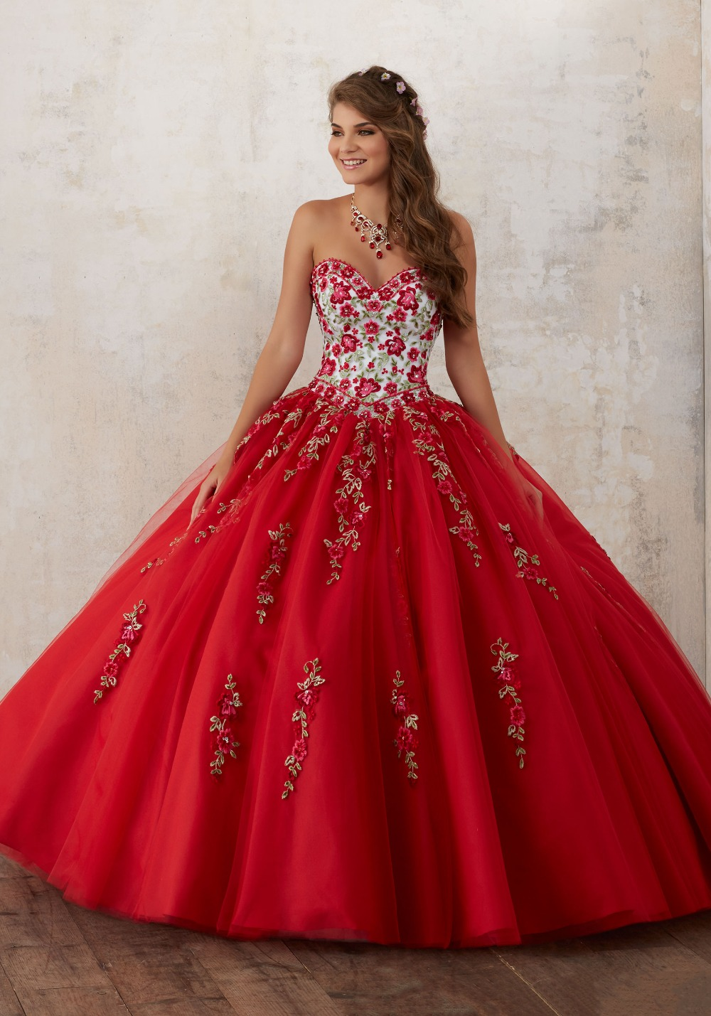 red cinderella prom dress promotionshop for promotional