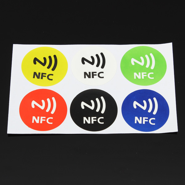 Brand New 6x Waterproof NFC Smart Tags Sticker Chip Rfid Adhesive Label for MX3 for Samsung S4 for Lumia High Quality(China (Mainland))