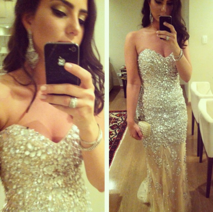 Vestidos de Fiesta Sweetheart Long 2014 Prom Evening Crystal Dresses Gowns Special Occasion Dress Women Custom Made - Mona Lisa wedding dress store