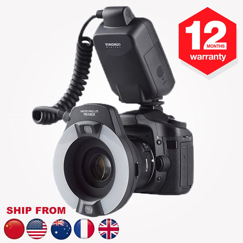 Yongnuo YN-14EX TTL Macro Ring Lite Flash Speedlite Light for Canon EOS 5Ds 5Dsr 760D 5D Mark III 6D 7D 60D 70D 700D 650D 600D(Hong Kong)