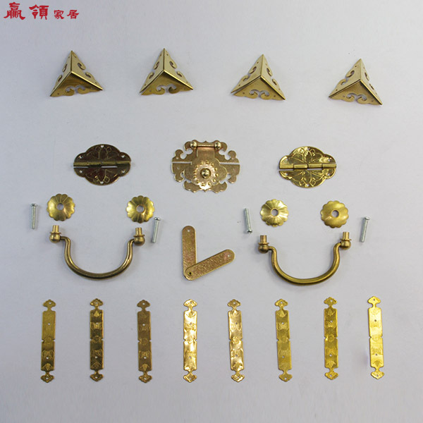 Chinese imitation of Ming and Qing Dynasties win collar brass fittings suitable for 30-50CM Zhangmu Xiang box kit YLZ016<br><br>Aliexpress