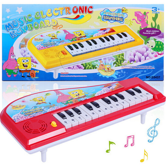 ZCZ SpongeBob toy piano NEW new musical toy instrument toys for children baby educational w034(China (Mainland))