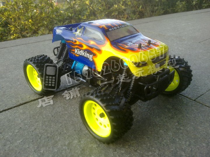 HSP 1/16th Scale Electric Powered Off Road Monster ,electric car 4 wheel drive(Model NO.94186)(China (Mainland))