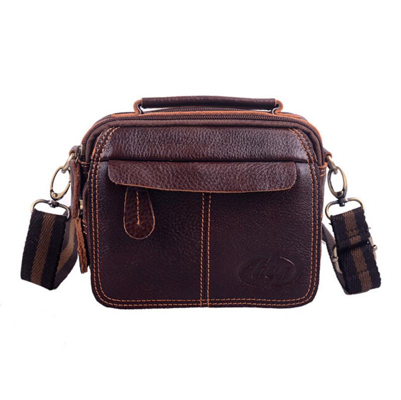 Brand leather multi-function men messenger bag new 2014 brown men shoulder bags handbag waist pack fanny Crossbody bolsa purse<br><br>Aliexpress