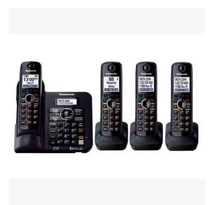 KX-TG 6641B DECT 6.0 Expandable Digital Cordless Phone 4 Handsets Answering System with a Dual Keypad Wireless Home Telephone(China (Mainland))