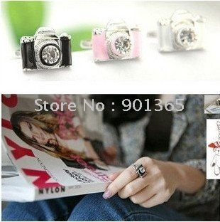 personality camera ring,Pink, black and white opening Ring 24pcs/lot& Free shipping