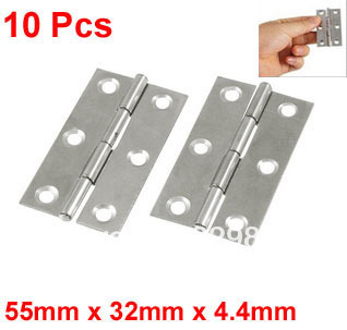 "10 Pcs Cabinet Drawer Door Stainless Steel Butt Hinges 2.2"" Long(China (Mainland))"