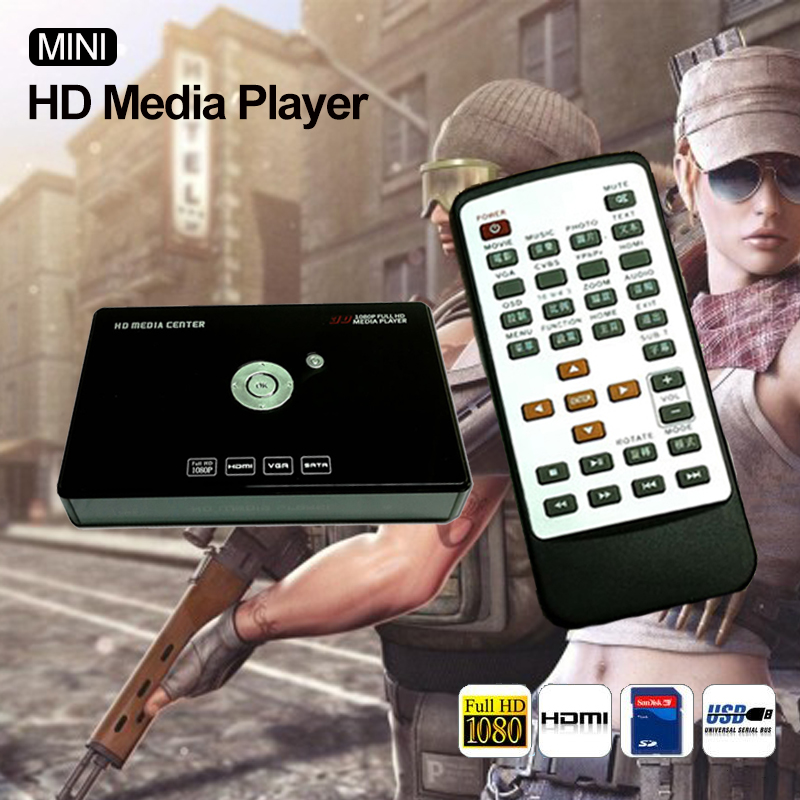 HOT Mini Full HD Media Player 1080p USB External HDD SD U Disk Disco Duro Multimedia HDD With HDMI Output Media Player(China (Mainland))