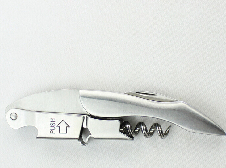 All stainless steel wine opener beer open end professional sommelier knife wine Kai(China (Mainland))